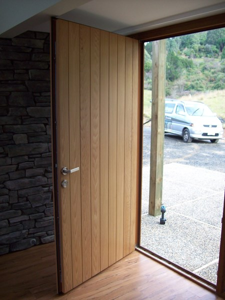 Custom made wooden door with UPVC frame and multi locking system
